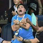 maradona ai mondiali con nero whatsapp dietro