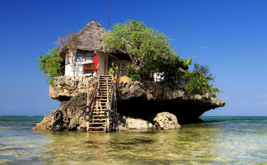 The Rock Restaurant, Michanwi Pingwe beach, Zanzibar, Tanzania