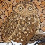 catasta legna forma di gufo anteprima