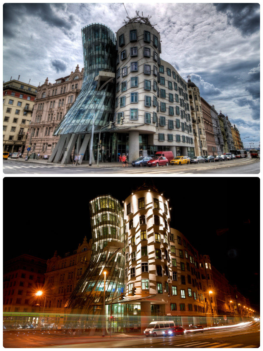 dancing-house-of-prague-nighta-and-day