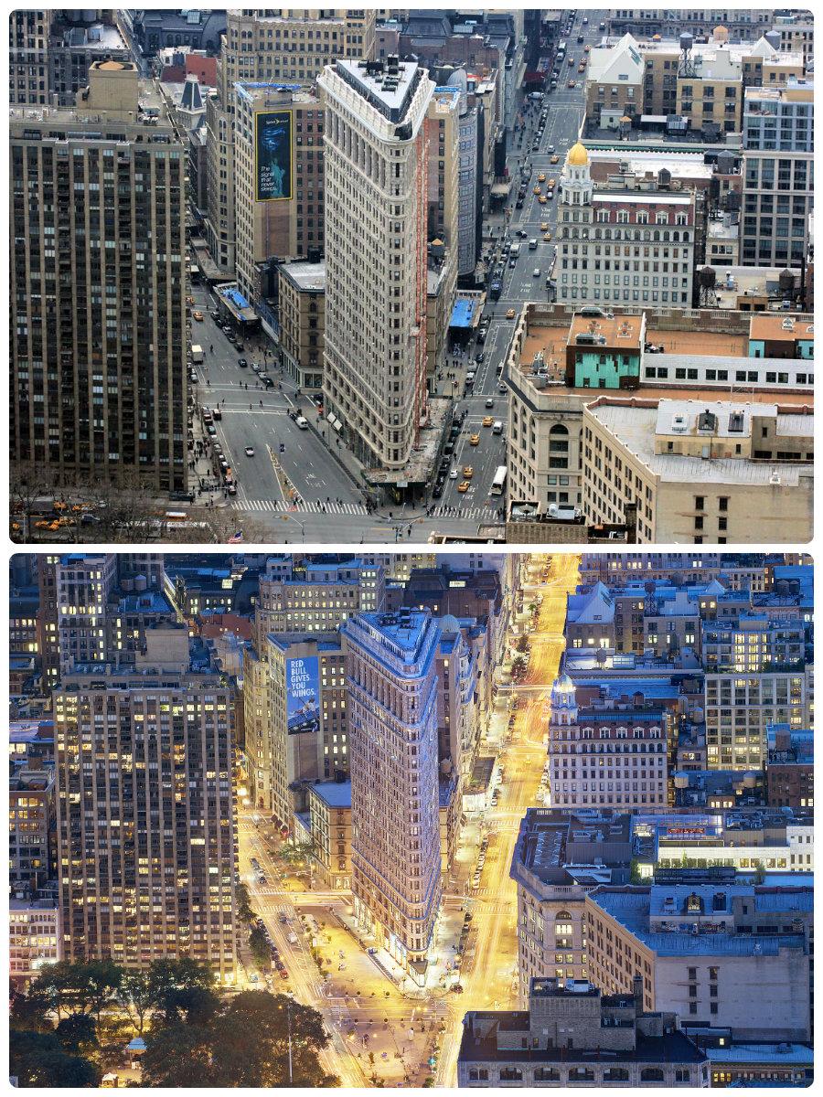 flatiron-building-new-york-night-and-day
