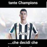 cristiano ronalado alla juve meme champions