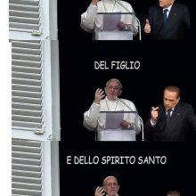berlusconi e il papa meme