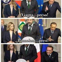 berlusconi salvini meme satira politica
