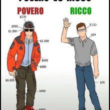 ricco vs povero meme