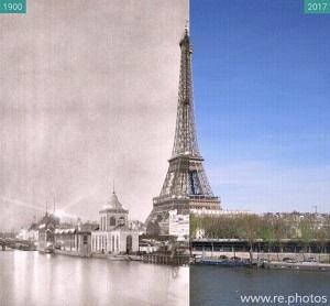 Tour Eiffel parigi prima e dopo